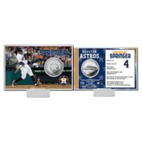 MLB George Springer Player Coin Card