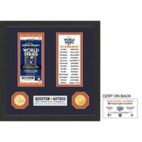 MLB Houston Astros World Series Ticket Frame