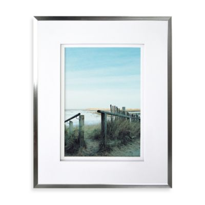 wall gallery sloped metal 14 inch x 18 inch frame in silver
