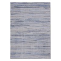 Calvin Klein® Orlando Loom Woven Striped 9'3 x 12'9 Area Rug in Blue