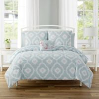 Sara 12-Piece Reversible King Comforter Set in Spa Blue