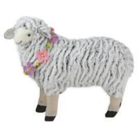 Northlight 13-Inch Plush Easter Sheep Figure in White