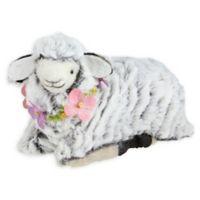 Northlight 6.75-Inch Plush Kneeling Sheep Easter Figure in Brown