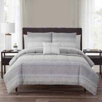 Nile 12-Piece Reversible Full Comforter Set in Neutral