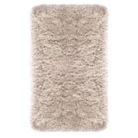 """Imperial Shaggy 24"""" x 40"""" Bath Rug in Taupe"""