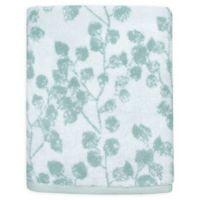 Colordrift Botanical Bath Towel in Aqua