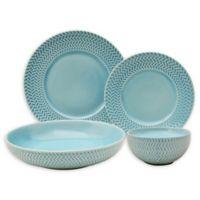 Sango® Tweed Ridge 16-Piece Dinnerware Set in Aqua