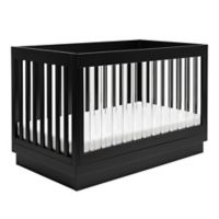 Babyletto Harlow 3-in-1 Convertible Crib with Toddler Bed Conversion Kit in White and Acrylic