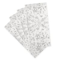 Villeroy & Boch Metallic Damask Napkins in Dove Grey/Silver (Set of 4)