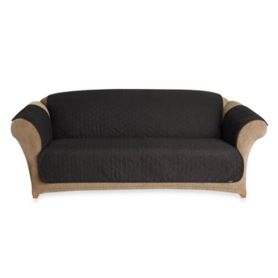 sure fit cotton duck pet sofa throw cover in black black furniture covers