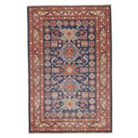 Feizy Rugs One of a Kind Super Kazak 3'2 x 4'10 Area Rug in Blue/Ivory