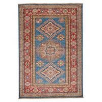Feizy Rugs One of a Kind Super Kazak 3'4 x 4'10 Area Rug in Blue/Red