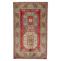 Feizy Rugs One of a Kind Super Kazak 3'10 x 6'7 Area Rug in Red/Green