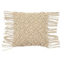 French Connection® Textured Square Throw Pillow in Natural