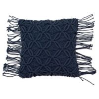 French Connection® Textured Square Throw Pillow in Dark Navy