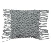 French Connection® Textured Square Throw Pillow in Dark Grey