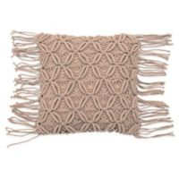 French Connection® Textured Square Throw Pillow in Blush