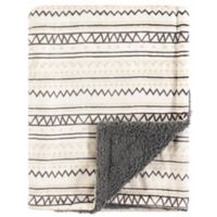 Hudson Baby® Aztec-Inspired Minky Blanket with Sherpa Backing