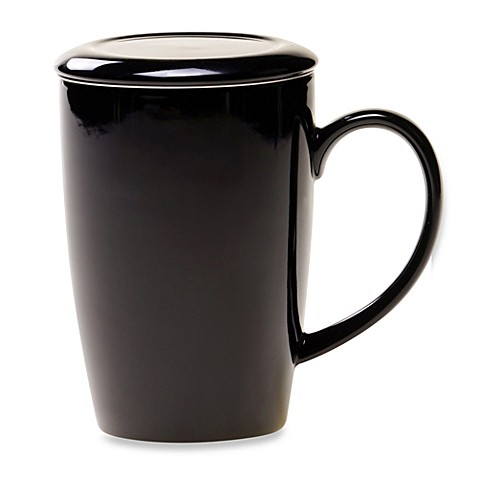 Certified International Black Infuser Tea Mug