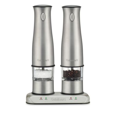 Cuisinart Rechargeable Electric Salt and Pepper Mill Set Bed