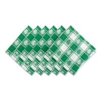 Design Imports Shamrock Woven Check Napkins in Green (Set of 6)