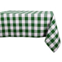 Design Imports Shamrock Buffalo Check 52-Inch Square Tablecloth in Green