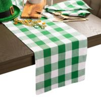 Design Imports Shamrock Buffalo Check 108-Inch Table Runner in Green