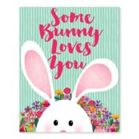 """Some Bunny Loves Easter"" 16-Inch x 20-Inch Wrapped Canvas Wall Art"