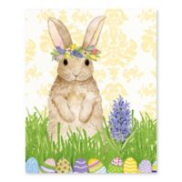 Artissimo Designs Spring Bunny II Multicolor Canvas Wall Art