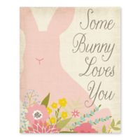 Artissimo Designs Some Bunny Loves You Multicolor Canvas Wall Art