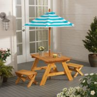 KidKraft® Outdoor Patio Set in Natural/Turquoise/White