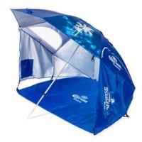 """Corona """"Always Summer"""" Beach Cabana Umbrella in Blue"""