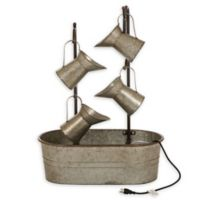 Glitzhome® Galvanized Metal Pitchers Fountain