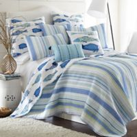 Levtex Home Blue Water Reversible Twin Quilt in Blue