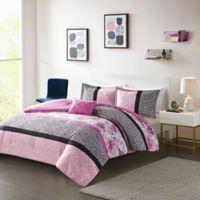 Mi Zone Ophelia Full/Queen Comforter Set in Pink