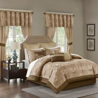 Madison Park Essentials Brystol Queen Comforter Set in Brown