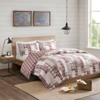 Madison Park Montana Reversible Full/Queen Coverlet Set in Red/Beige