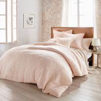DKNYpure® Texture Queen Duvet Cover in Blush