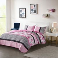 Mi Zone Ophelia Full/Queen Coverlet Set in Pink