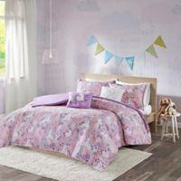 Urban Habitat Kids Lola Reversible Full/Queen Duvet Cover Set in Pink