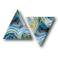 Courtside Market™ Agate Canvas Wall Art in Blue/Gold (Set of 2)
