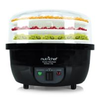 NUTRICHEF 3-in-1 Dhydrator & Steamer Food Cooker in Black
