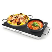 Nutrichef™ Electric Food Warmer in Black/Chrome