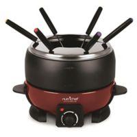 NUTRICHEF Electric Melting Pot Fondue Maker in Black