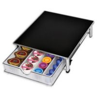 Smart Design 36-Pod Capacity Rolling Coffee Pod Drawer in Clear
