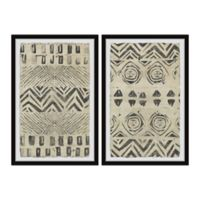 Marmont Hill Golden Patterns 16-Inch x 12-Inch Framed Wall Art Set