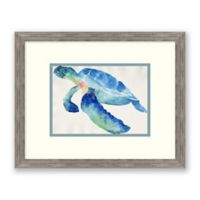 Sea Turtle II 17-Inch x 15-Inch Framed Wall Art