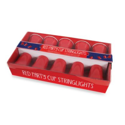 Party Cup String Lights : Red Party Cup Set of 10 String Lights - Bed Bath & Beyond