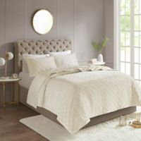 Madison Park Leah Reversible King/California King Coverlet Set in Ivory