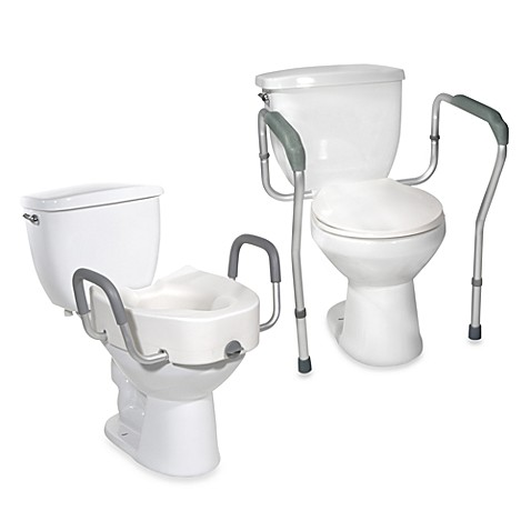 Drive Medical Raised Toilet Seat And Safety Frame Bed